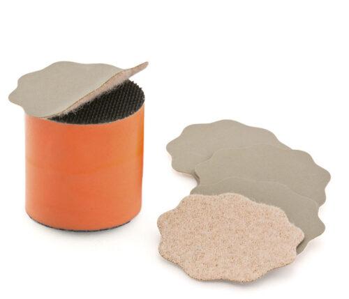 Dischetti abrasivi P5000 velcrati 35mm