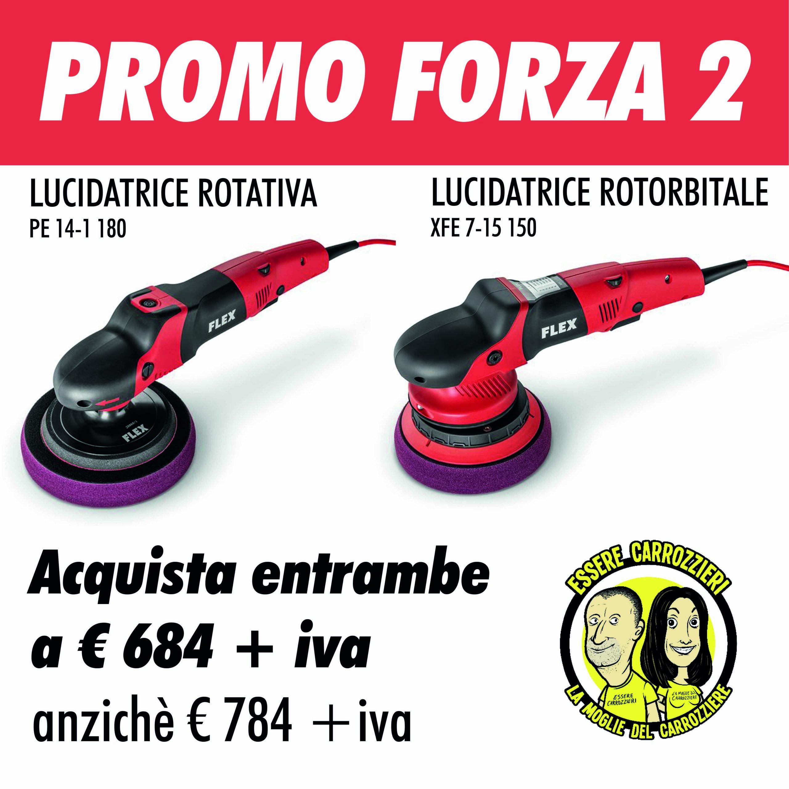 PROMO FORZA 2 - Lucidatrici Flex Rotativa+Rotorbitale