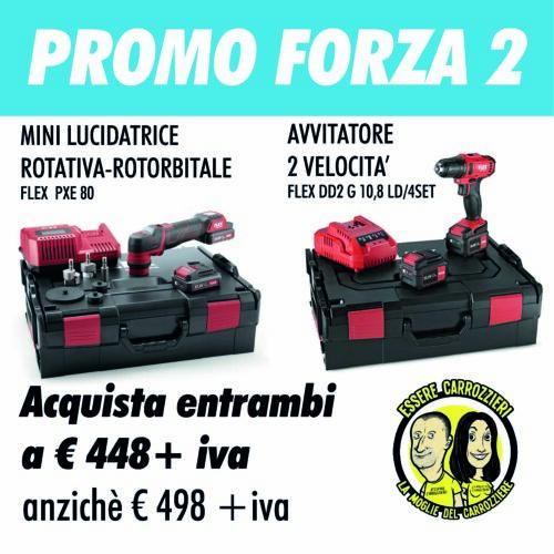 PROMO FORZA 2 - Avvitatore + Mini Lucidatrice Flex