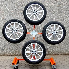 Carrello per verniciatura cerchia a ruota