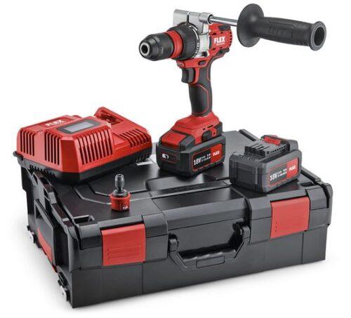 SET con Trapano avvitatore Flex a batteria a 2 velocità DD 2G 18.0-EC/5.0
