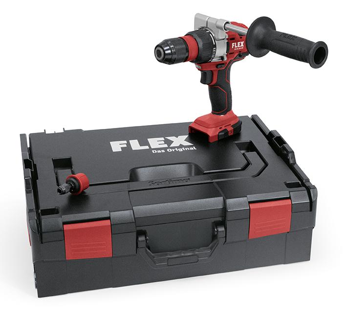 Trapano avvitatore Flex a batteria a 2 velocità DD 2G 18.0-EC con valigetta