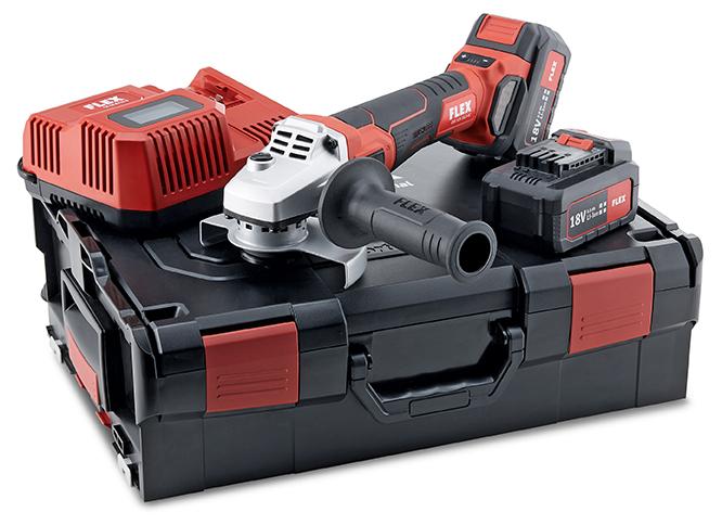 SET con Smerigliatrice angolare FLEX a batteria-LBE 125 18.0 EC/5.0