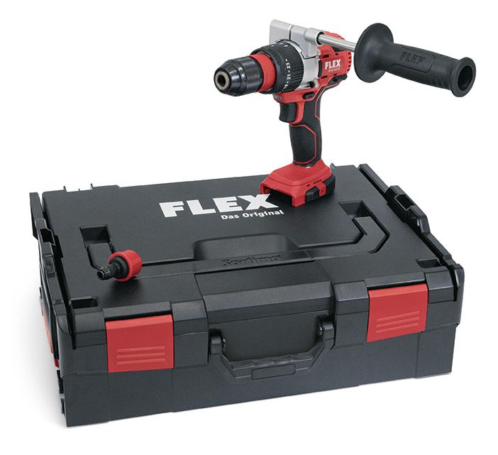 Trapano avvitatore a percussione a batteria FLEX PD 2G 18.0-EC con valigetta
