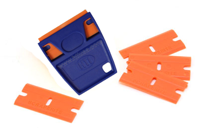 5 lame in plastica con supporto